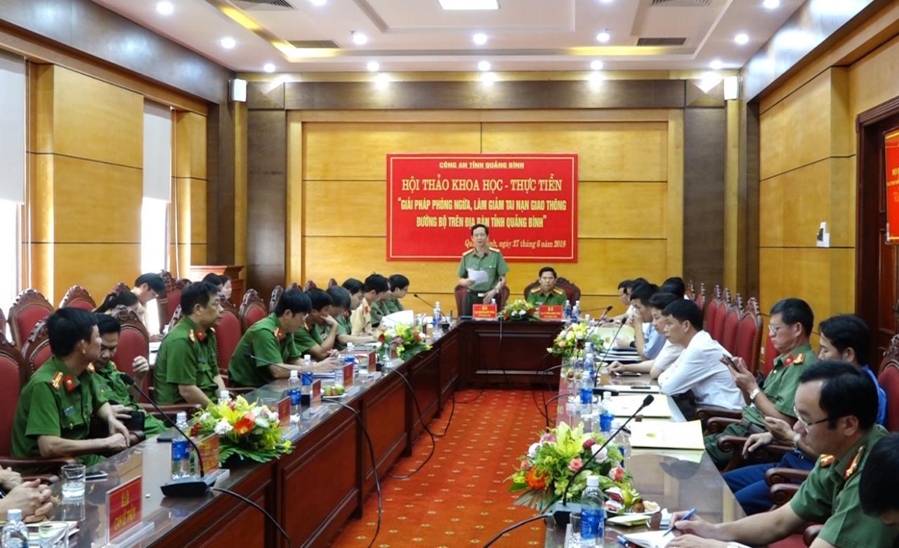 Hội thảo khoa học - thực tiễn giải pháp phòng ngừa, làm giảm tai nạn giao thông đường bộ trên địa bàn tỉnh Quảng Bình