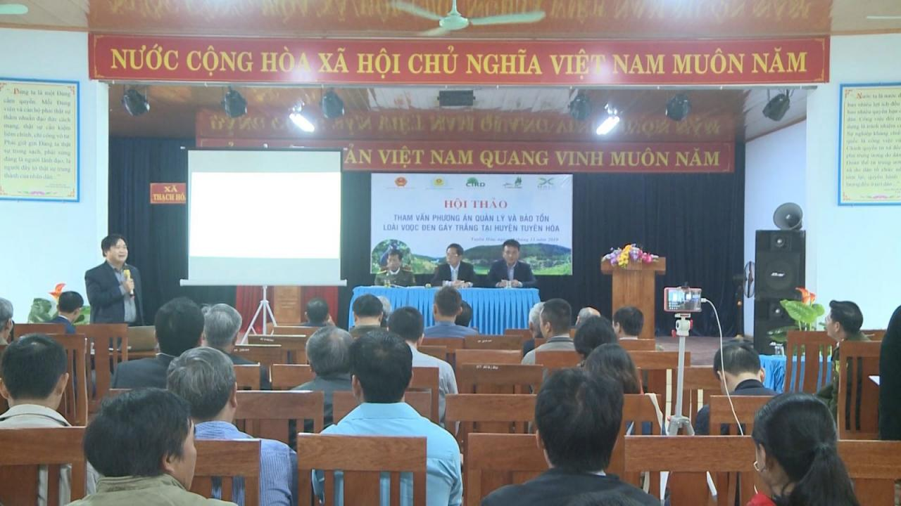 Hội thảo tham vấn phương án quản lý, bảo tồn loài voọc đen gáy trắng tại huyện Tuyên Hóa