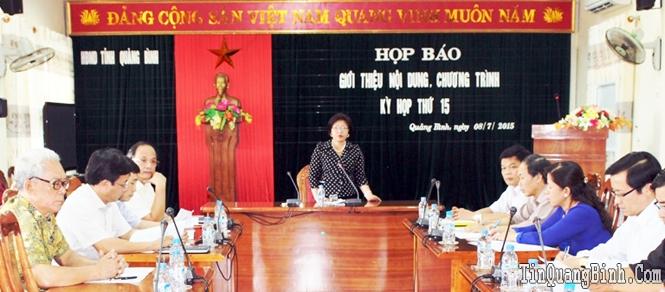 Họp báo giới thiệu nội dung, chương trình kỳ họp thứ 15, HĐND tỉnh khóa XVI