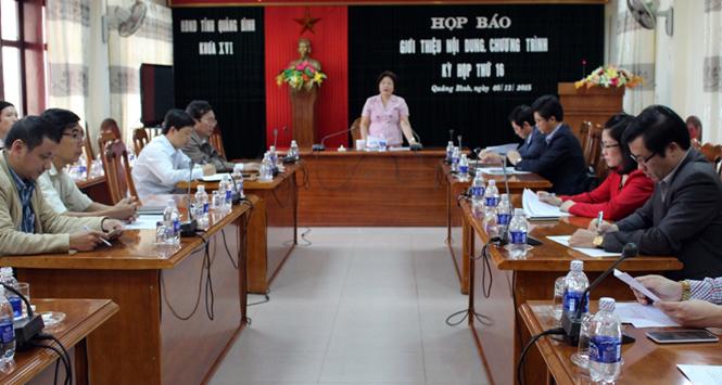 Họp báo giới thiệu nội dung chương trình kỳ họp thứ 16, HĐND tỉnh khóa XVI