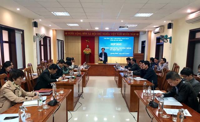 Họp báo tuyên truyền nội dung, chương trình kỳ họp thứ 12, HĐND tỉnh khóa XVII