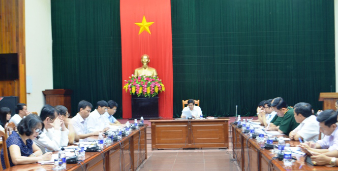 Họp Tiểu ban đảm bảo Đại hội Đảng bộ tỉnh lần thứ XVI