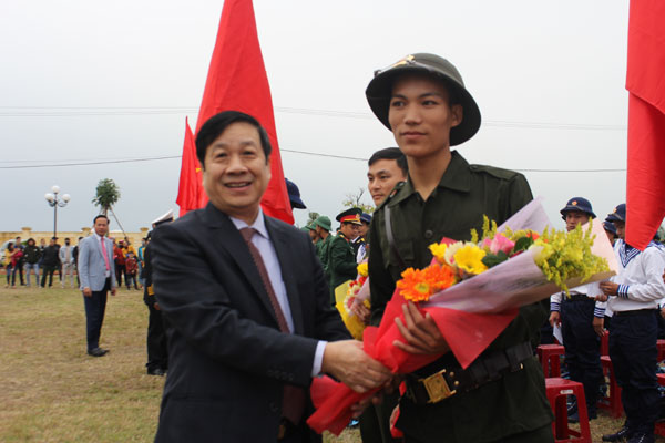 Huyện Quảng Trạch có 138 công dân lên đường nhập ngũ