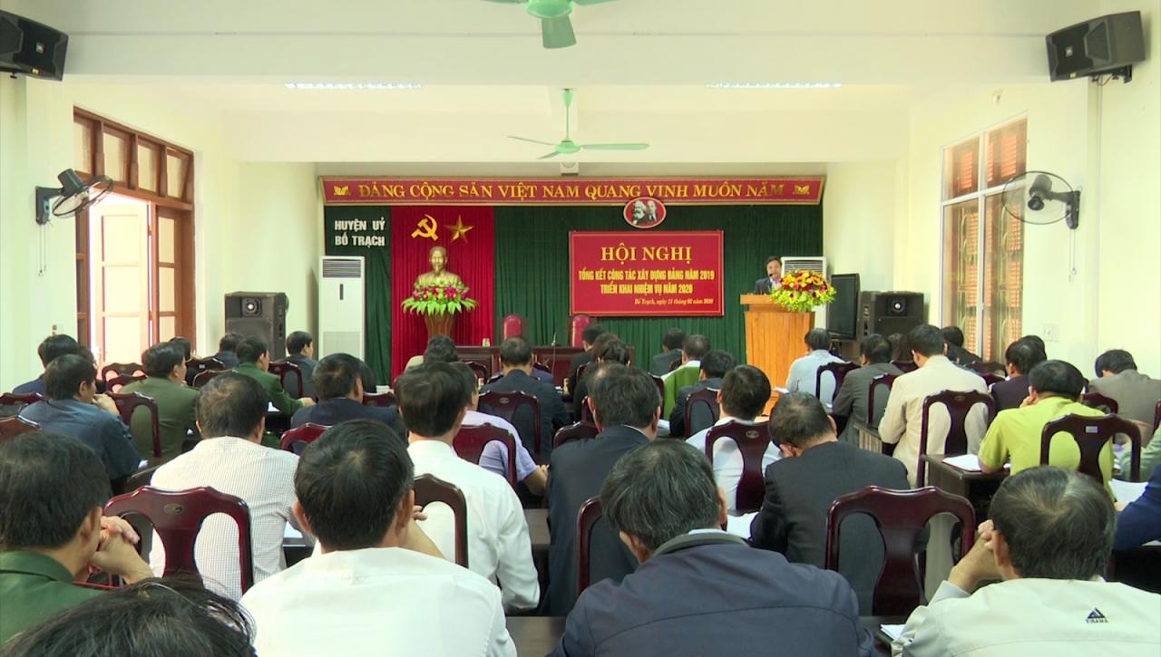 Huyện ủy Bố Trạch triển khai công tác xây dựng Đảng năm 2020