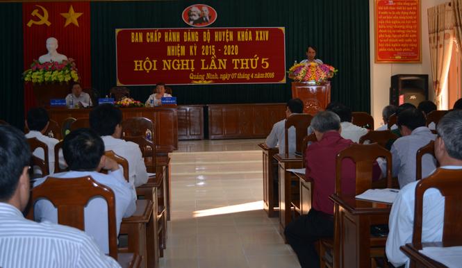 Huyện uỷ Quảng Ninh: Chỉ đạo quyết liệt chương trình xây dựng nông thôn mới