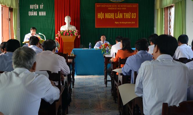 Huyện uỷ Quảng Ninh: Triển khai thực hiện Nghị quyết Đại hội Đảng bộ huyện lần thứ XXIV