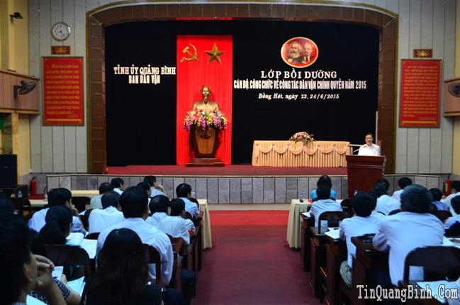 Khai giảng lớp bồi dưỡng công tác dân vận chính quyền cho cán bộ, công chức