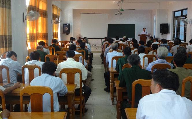 Khai giảng lớp bồi dưỡng nghiệp vụ công tác Hội CCB cơ sở năm 2015