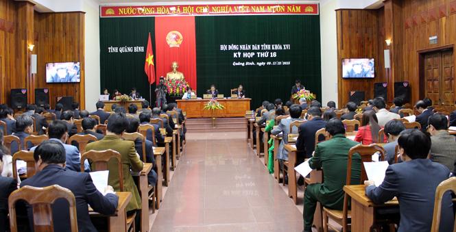 Khai mạc kỳ họp thứ 16, HĐND tỉnh khóa XVI