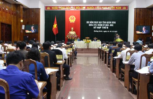 Khai mạc kỳ họp thứ 8 HĐND tỉnh khóa XVII, nhiệm kỳ 2016 - 2021