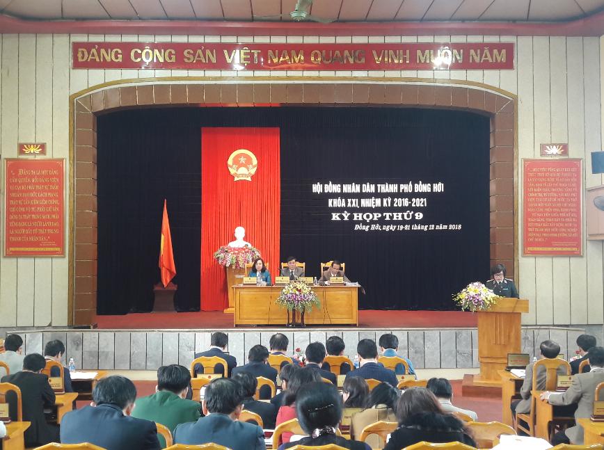 Khai mạc kỳ họp thứ 9, HĐND thành phố Đồng Hới khóa XXI