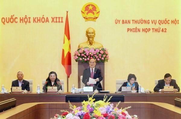 Khai mạc Phiên họp thứ 42 Ủy ban Thường vụ Quốc hội khóa XIII
