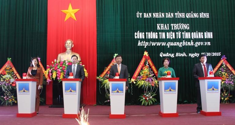 Khai trương Cổng thông tin điện tử tỉnh Quảng Bình