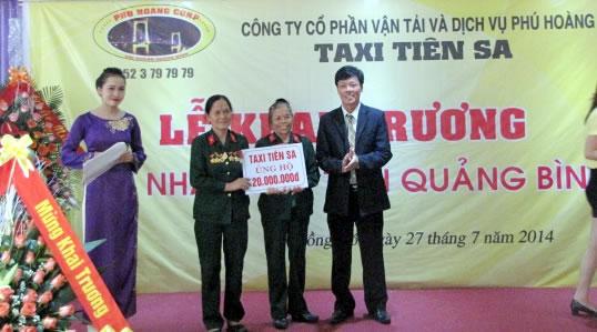 Khai trương hoạt động Taxi Tiên Sa tại Quảng Bình