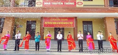 Khánh thành Nhà Truyền thống và Thư viện huyện Lệ Thủy