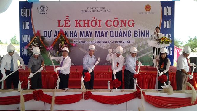 Khởi công xây dựng Nhà máy May Quảng Bình