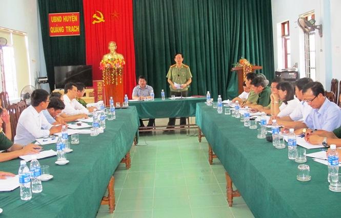 Kiểm tra công tác PCLB và TKCN trên địa bàn huyện Quảng Trạch