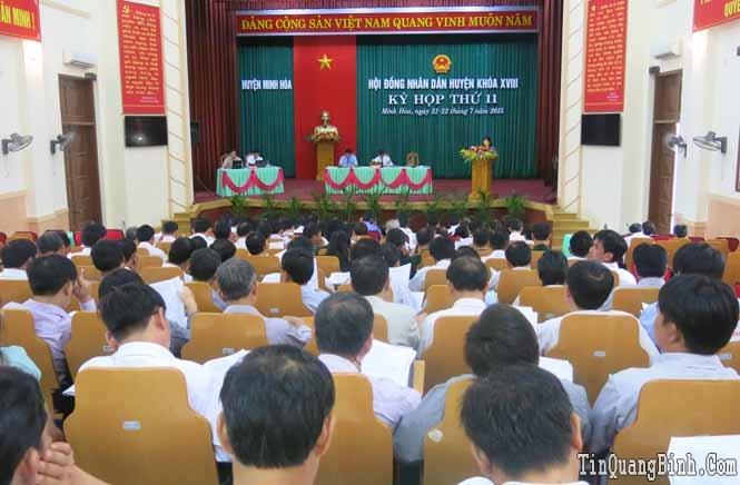 Kỳ họp thứ 11, HĐND huyện Minh Hoá khoá XVIII