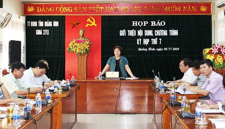 Kỳ họp thứ 7, HĐND tỉnh khoá XVII diễn ra từ ngày 11 đến 13-7