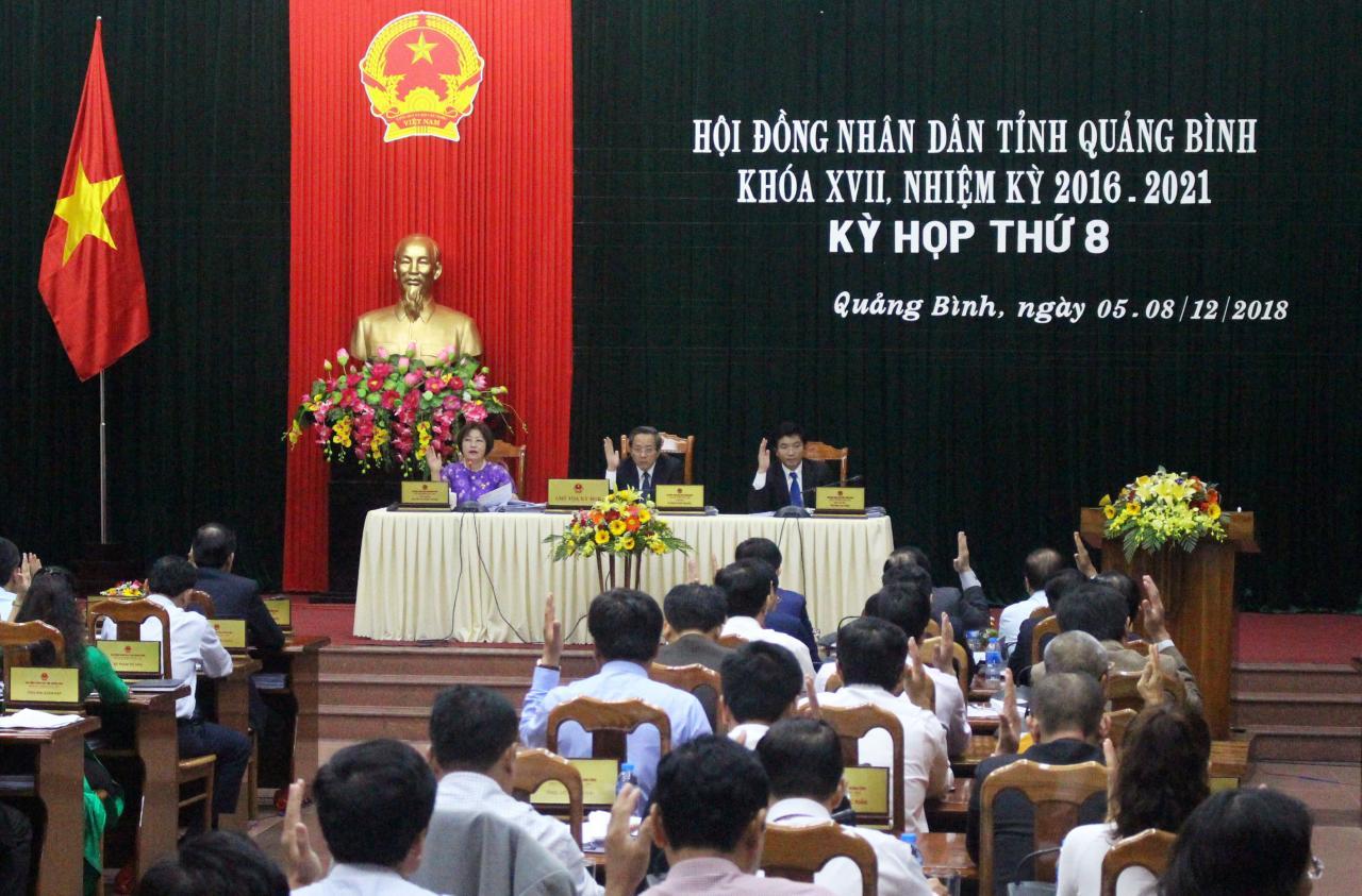 Kỳ họp thứ 8 của HĐND tỉnh đã hoàn thành chương trình làm việc với nhiều đổi mới *