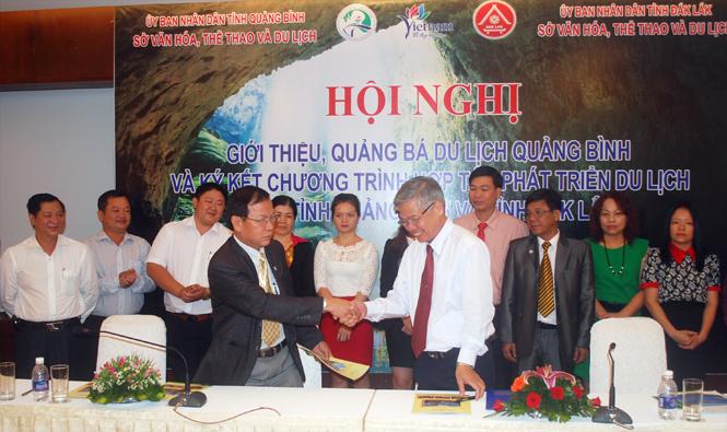 Ký kết chương trình hợp tác phát triển du lịch Quảng Bình-Đắk Lắk