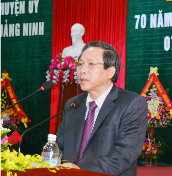 Kỷ niệm 70 năm ngày thành lập Đảng bộ huyện Quảng Ninh