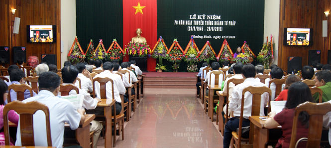 Kỷ niệm 70 năm ngày truyền thống ngành Tư pháp