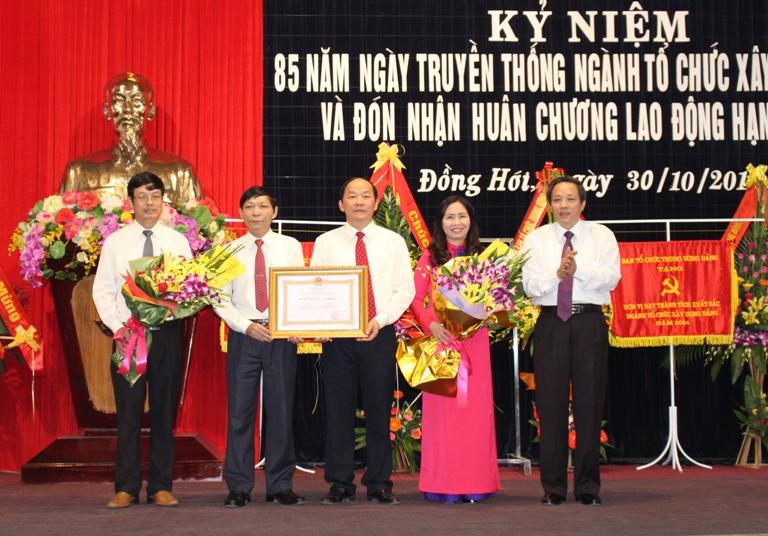 Kỷ niệm 85 năm Ngày truyền thống ngành Tổ chức xây dựng Đảng và đón nhận Huân chương Lao động hạng Nhất