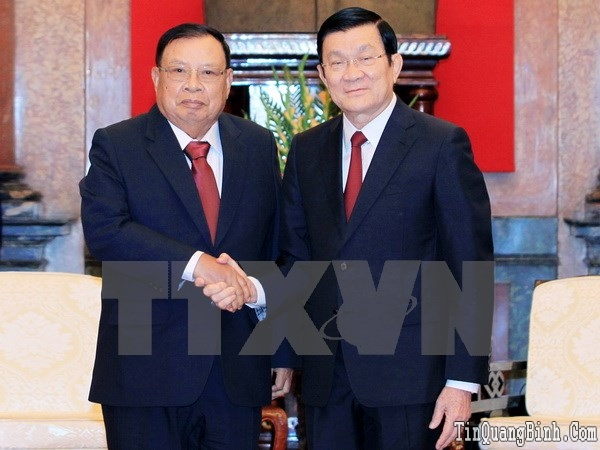 Làm hết sức để vun đắp tình đoàn kết Việt-Lào ngày càng phát triển