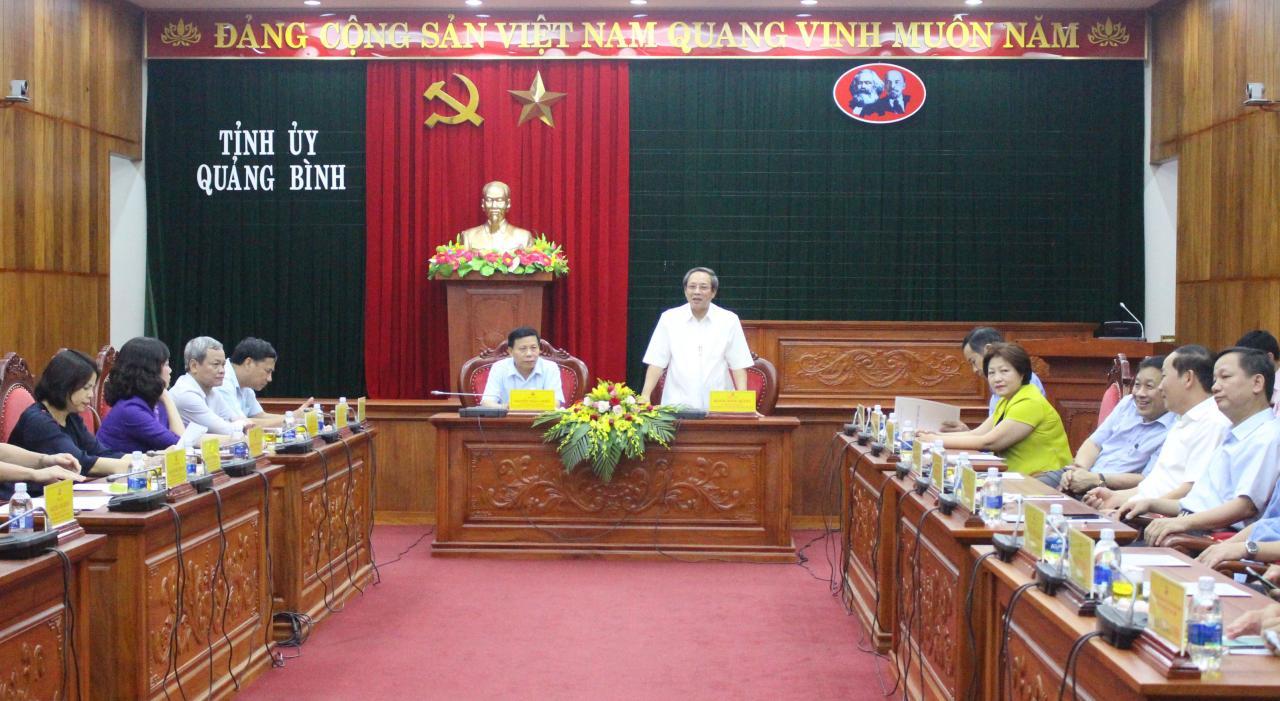 Lãnh đạo tỉnh Quảng Bình tiếp và làm việc với Đoàn công tác tỉnh Bắc Ninh