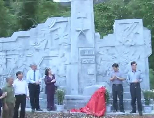 Lễ khánh thành bức phù điêu tri ân các anh hùng liệt sỹ hang Tám Cô