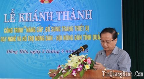 """Lễ khánh thành công trình """"Nâng cấp, bổ sung trang thiết bị Trung tâm Dạy nghề và hỗ trợ nông dân tỉnh Quảng Bình"""""""
