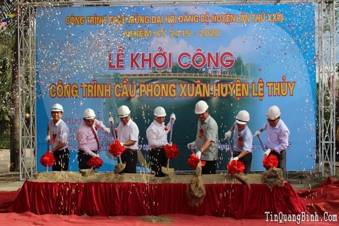 Lệ Thủy: Khởi công công trình cầu Phong Xuân