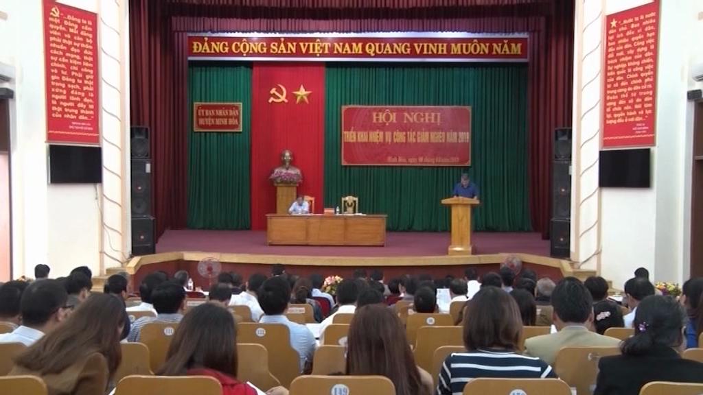 Minh Hóa triển khai công tác giảm nghèo năm 2019