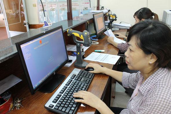 Năm 2014: 95,8% doanh nghiệp trên địa bàn tỉnh kê khai thuế qua mạng
