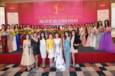 Ngắm dàn người đẹp ở Hoa hậu Hoàn vũ Việt Nam khu vực phía Bắc
