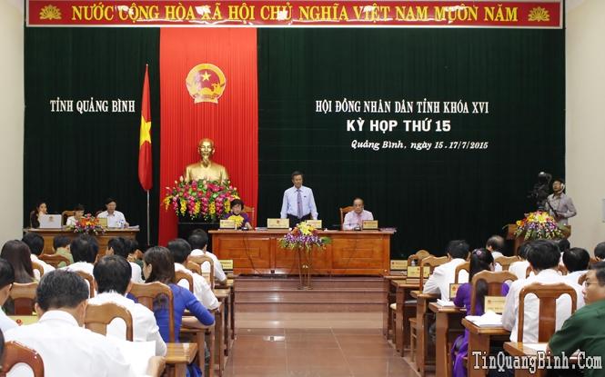 Ngày làm việc thứ hai kỳ họp thứ 15, HĐND tỉnh khóa XVI