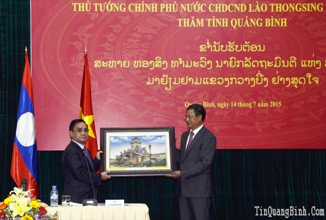 Những hoạt động của Thủ tướng Chính phủ nước CHDCND Lào Thoong-xỉnh Thăm-mạ-vông tại Quảng Bình