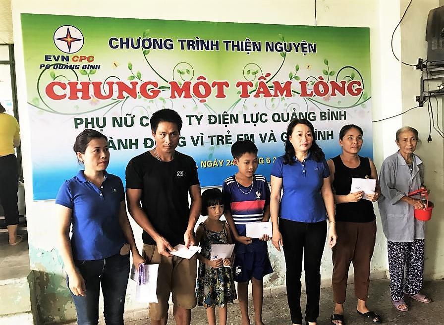 PC Quảng Bình luôn đồng hành cùng những hoàn cảnh khó khăn