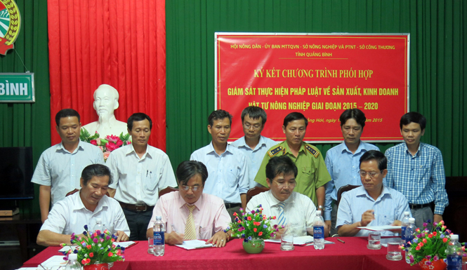 Phối hợp giám sát việc thực hiện pháp luật về sản xuất, kinh doanh vật tư nông nghiệp
