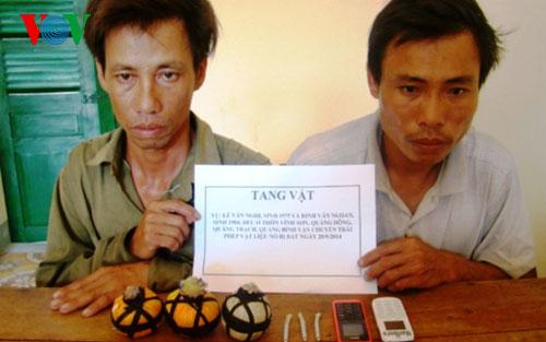 Quảng Bình: Bắt 2 đối tượng dùng mìn đánh cá