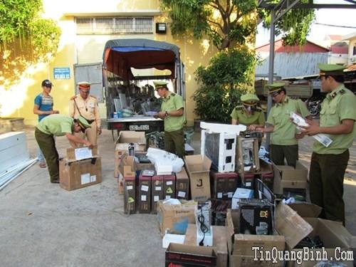 Quảng Bình: Bắt lô máy vi tính nhập khẩu lậu