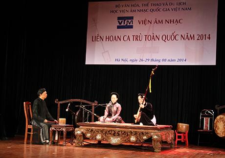 Quảng Bình đạt 2 giải tại Liên hoan ca trù toàn quốc năm 2014