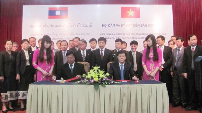Quảng Bình: Hội đàm với tỉnh Khăm Muộn (Lào) về cắm mốc biên giới và di cư tự do