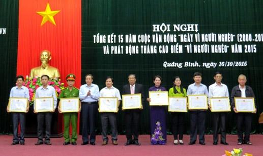 """Quảng Bình: Phát động tháng cao điểm """"Vì người nghèo"""" năm 2015"""