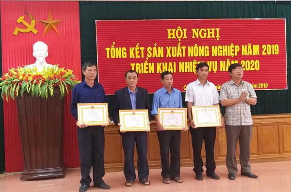 Quảng Ninh tổng kết sản xuất nông nghiệp năm 2019