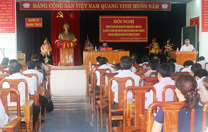 Quảng Trạch: Tập trung đổi mới toàn diện công tác cán bộ