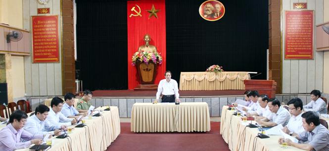 Rà soát công tác chuẩn bị Đại hội Đảng bộ tỉnh lần thứ XVI, nhiệm kỳ 2015-2020