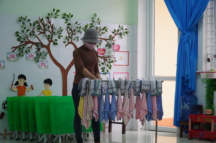 Sở Giáo dục-Đào tạo kiểm tra đột xuất công tác phòng chống dịch Corona tại các trường học
