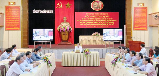 Sơ kết 3 năm thực hiện Kết luận số 56 của Bộ Chính trị (khoá XI) về đẩy mạnh và thực hiện Nghị quyết Hội nghị Trung ương 5 (khoá IX) về tiếp tục đổi mới, phát triển và nâng cao hiệu quả kinh tế tập thể
